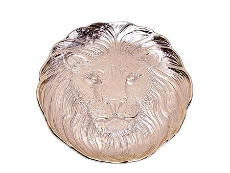 Lion gold plate