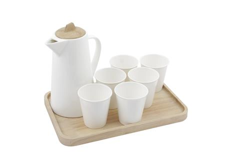 Water jug set with tray